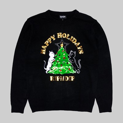 RIP N DIP LITMAS TREE KNITTED SWEATER BLACK