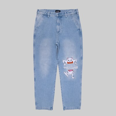 RIP N DIP PEACE NO LOVE DENIM PANT LIGHT WASH