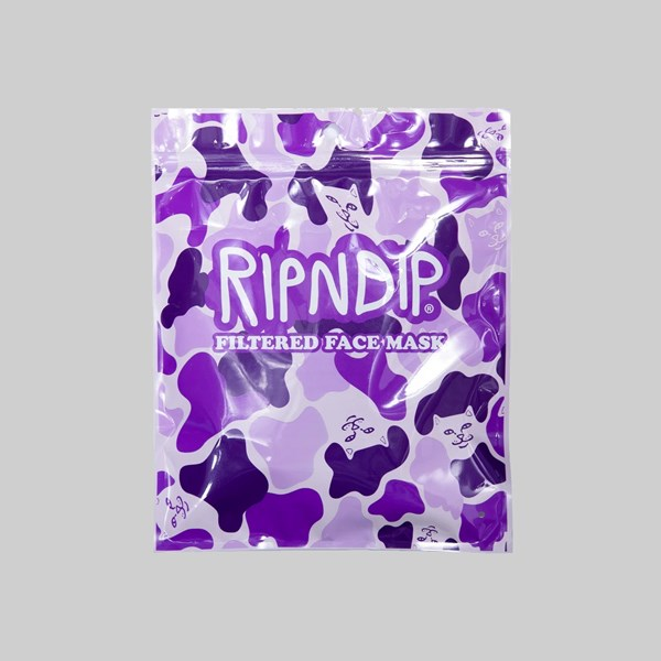 RIP N DIP VENTILATED FACE MASK PURPLE CAMO