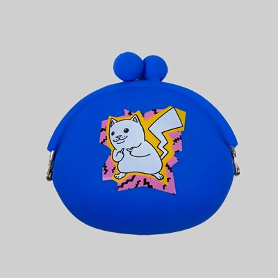 RIP N DIP CATCH EM ALL RUBBER COIN POUCH BLUE