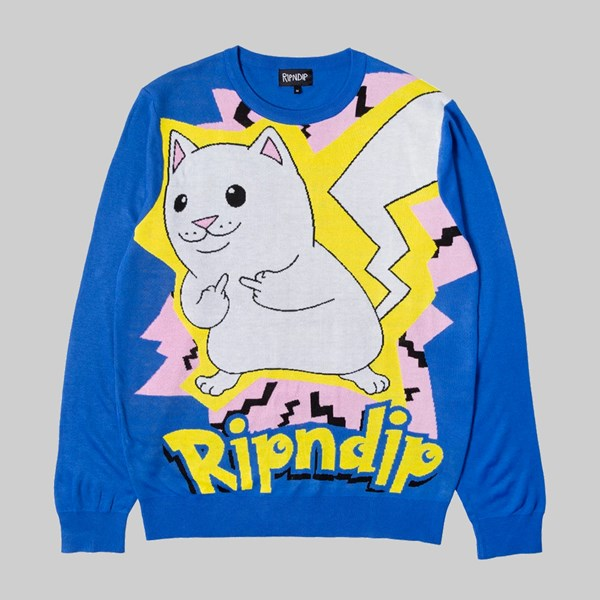 RIP N DIP CATCH EM ALL SWEATER BLUE
