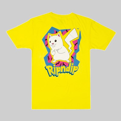 RIP N DIP CATCH EM ALL SS T-SHIRT YELLOW