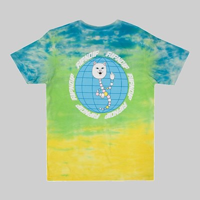 RIP N DIP DNA SS T-SHIRT BLUE GREEN TIE DYE