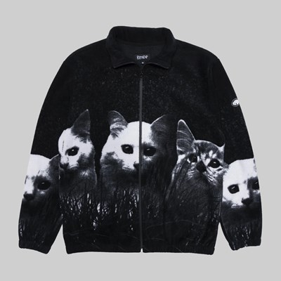 RIP N DIP FIELD OF CATS SHERPA JACKET BLACK