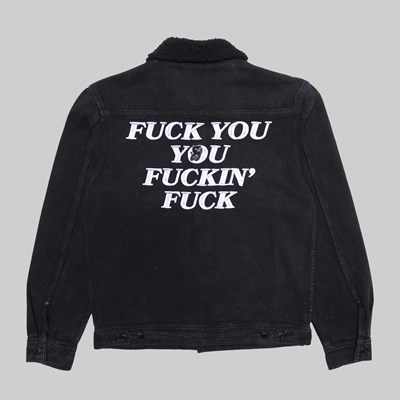 RIP N DIP DANCE FUCKING FUCK DENIM JACKET BLACK