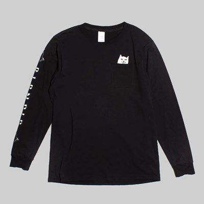 RIP N DIP LORD NERMAL LONG SLEEVE TEE BLACK