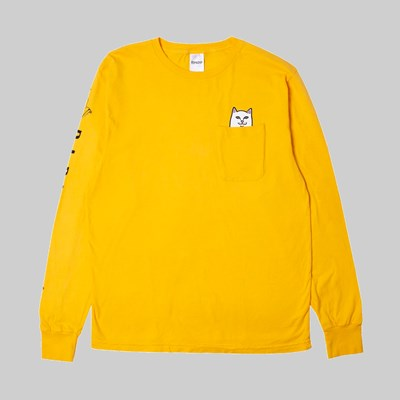 RIP N DIP LORD NERMAL LONG SLEEVE TEE GOLD