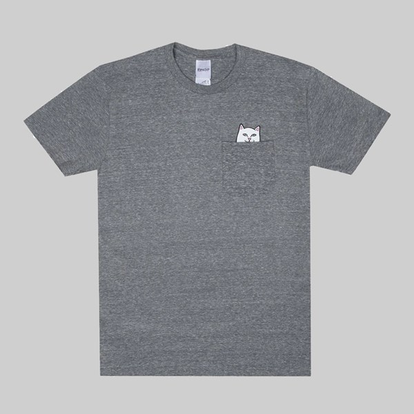 RIP N DIP LORD NERMAL POCKET SS T-SHIRT HEATHER GREY