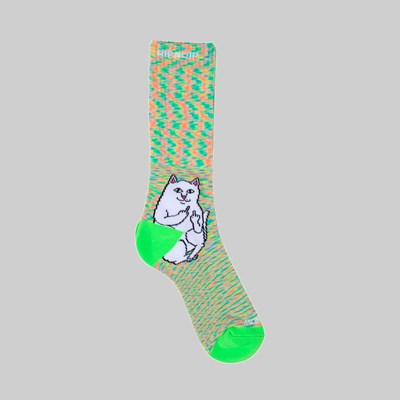 RIP N DIP LORD NERMAL SOCKS NEON GREEN SPECKLE