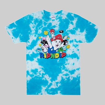 RIP N DIP NERMIO SS T-SHIRT BLUE CLOUD WASH