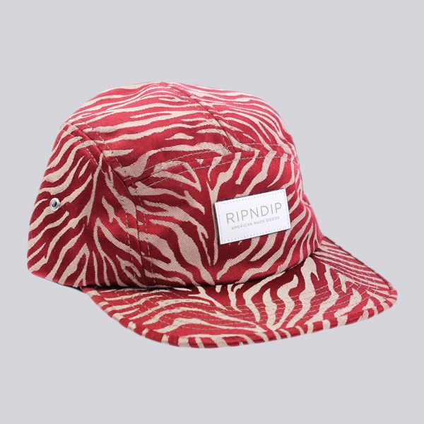 596c876e888 RIPNDIP Safari 5 Panel Camp Cap Ruby