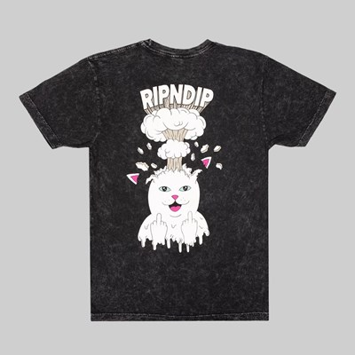 RIP N DIP MIND BLOWN SS T-SHIRT BLACK MIN WASH