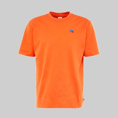 RUSSELL ATHLETIC BASELINER EMB LOGO SS T-SHIRT ORANGE