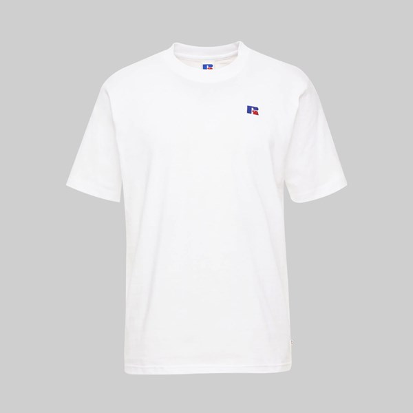 RUSSELL ATHLETIC BASELINER EMB LOGO SS T-SHIRT WHITE