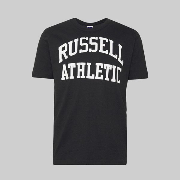 RUSSELL ATHLETIC COLLEGE LOGO SS T-SHIRT BLACK