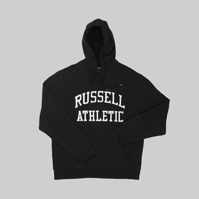 RUSSELL ATHLETIC EAGLE R GRAPHIC HOOD BLACK