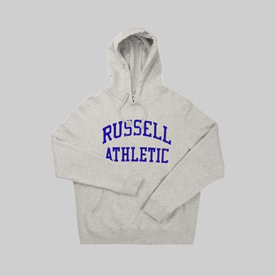 RUSSELL ATHLETIC EAGLE R GRAPHIC HOOD GREY MARL