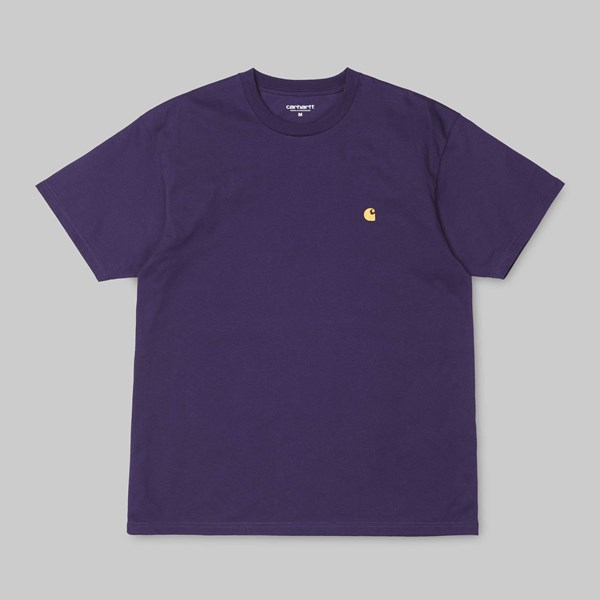 CARHARTT CHASE SS T-SHIRT LAKERS GOLD