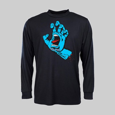 SANTA CRUZ LONGSLEEVE SCREAMING HAND BLACK