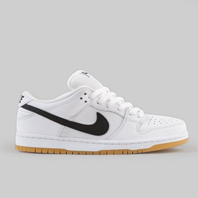 NIKE SB DUNK LOW PRO ISO 'ORANGE LABEL' WHITE BLACK GUM