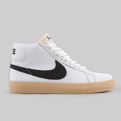 NIKE SB BLAZER MID 'ORANGE LABEL' WHITE BLACK SAFETY ORANGE