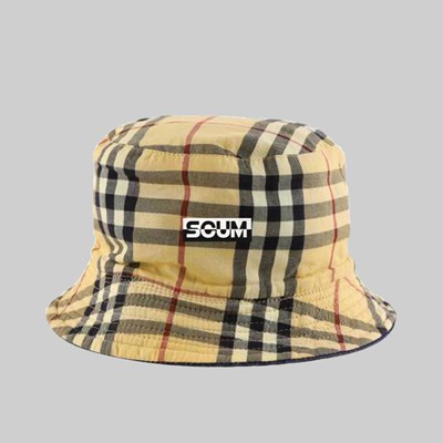 FAKE SCUM SKATEBOARDS LOGO BUCKET HAT BURBERRY