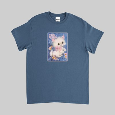 FAKE SCUM SKATEBOARDS KITTY SS TEE BLUE