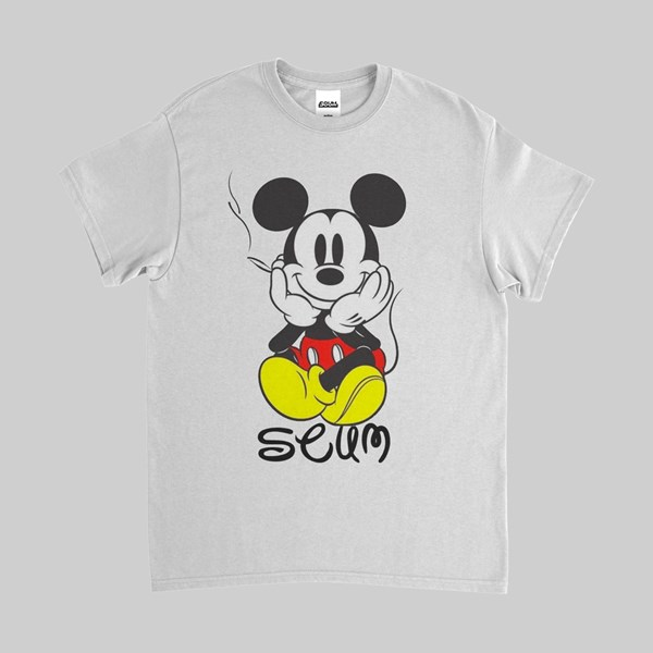 FAKE SCUM SKATEBOARDS MICKEY SS TEE WHITE
