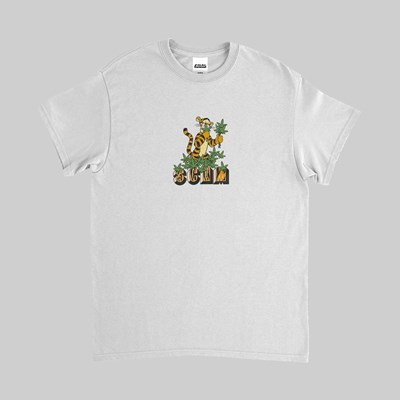 FAKE SCUM SKATEBOARDS TIGGER SS TEE WHITE