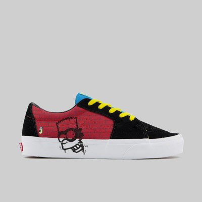 VANS X SIMPSONS SK8-LOW EL BARTO BLACK RED
