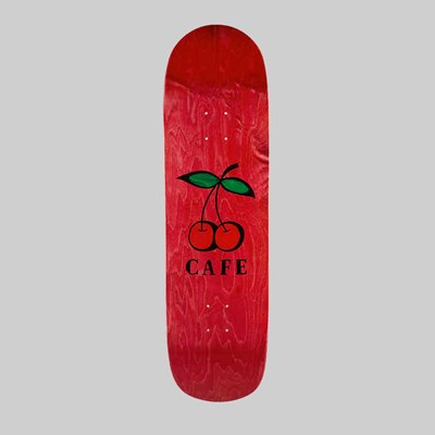 SKATEBOARD CAFE CHERRY PUB CRUISER DECK RED 9""