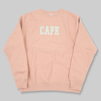 SKATEBOARD CAFE COLLAGE HEAVYWEIGHT CREW DUSTY PINK