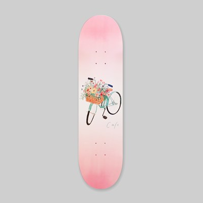 SKATEBOARD CAFE FLOWER BASKET DECK PINK 8.00