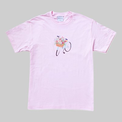 SKATEBOARD CAFE FLOWER BASKET SS T-SHIRT PINK