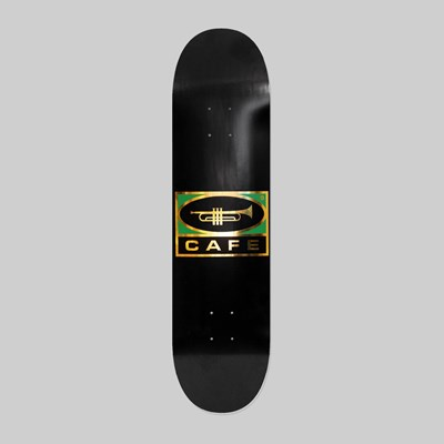 SKATEBOARD CAFE TRUMPET LOGO DECK BLACK 8.25