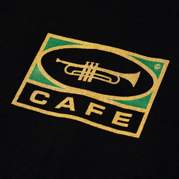 SKATEBOARD CAFE TRUMPET LOGO SS T-SHIRT BLACK