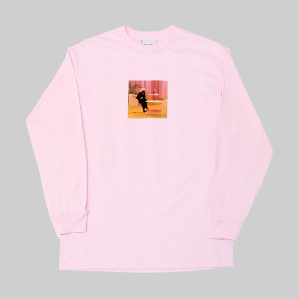 SKATEBOARD CAFE UNEXPECTED BEAUTY LS T-SHIRT PINK
