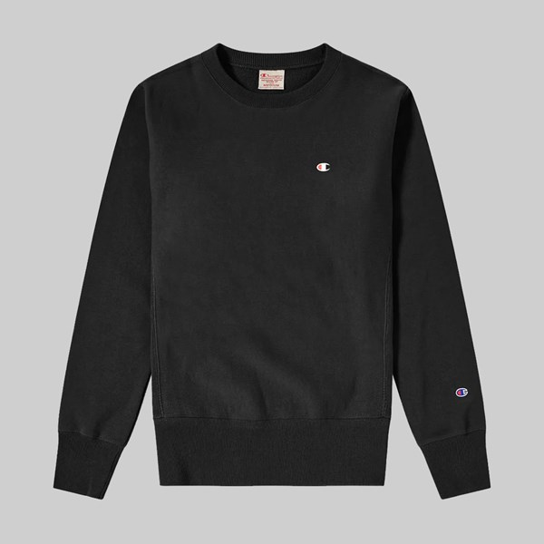 CHAMPION REVERSE WEAVE SMALL C CREWNECK BLACK