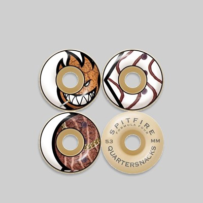 SPITFIRE X QUARTERSNACKS FORMULA FOUR WHEELS 53MM