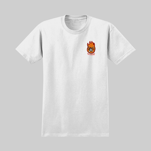 SPITFIRE X NECKFACE SS T-SHIRT BROKE OFF WHITE