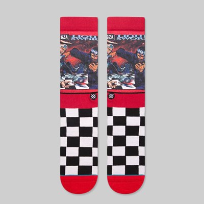 STANCE X WU TANG CLAN LIQUID SWORDS SOCKS RED