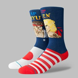 STANCE SOCKS 'RYU VS KEN' STREETFIGHTER BLACK