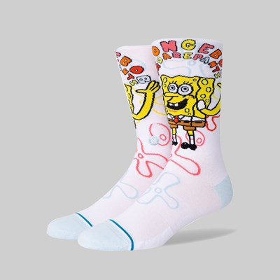 STANCE SOCKS X SPONGE BOB 'IMAGINATION BOB' WHITE