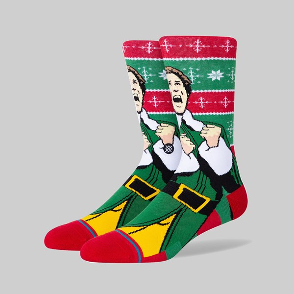 STANCE SOCKS X ELF 'COLD OUTSIDE' RED