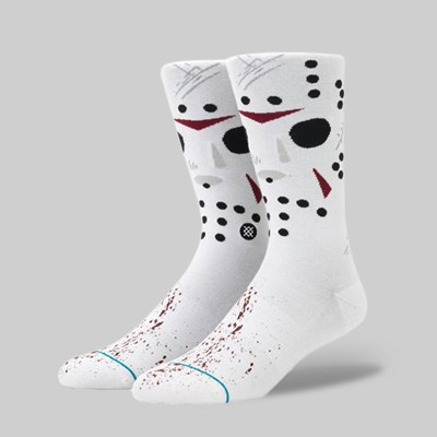 STANCE X LEGENDS OF HORROR 'JASON' SOCK WHITE
