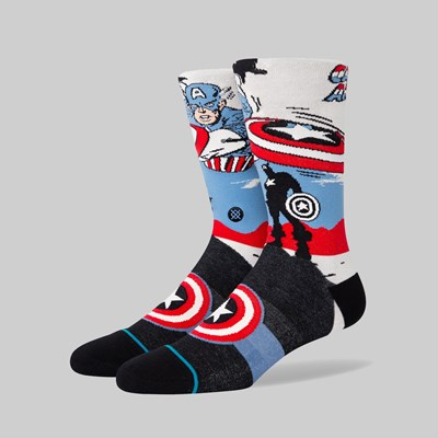 STANCE SOCKS X MARVEL 'CAPTAIN AMERICA MARQUEE' WHITE