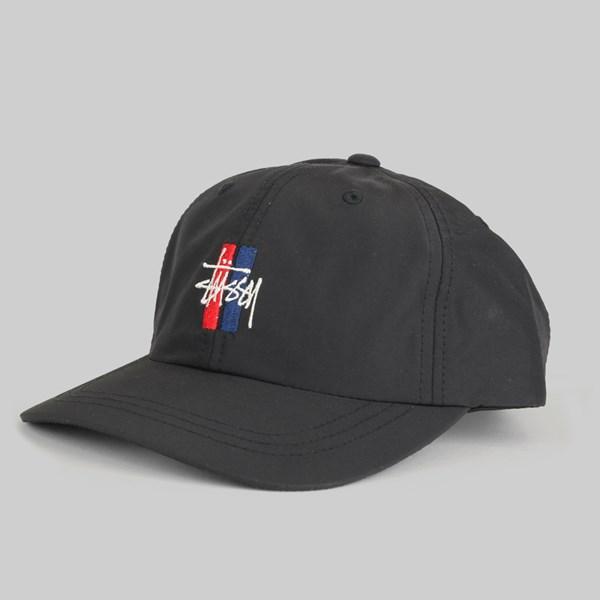 579957083e3 STUSSY BARS LOGO LOW PRO CAP BLACK