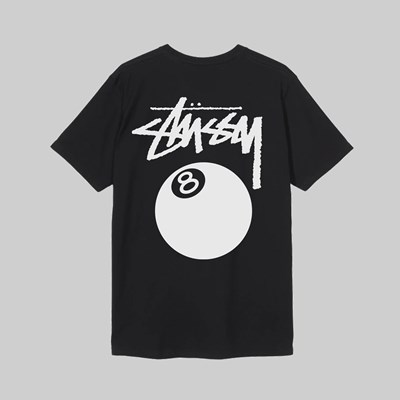 STUSSY 8 BALL PIG. DYED SS T-SHIRT BLACK