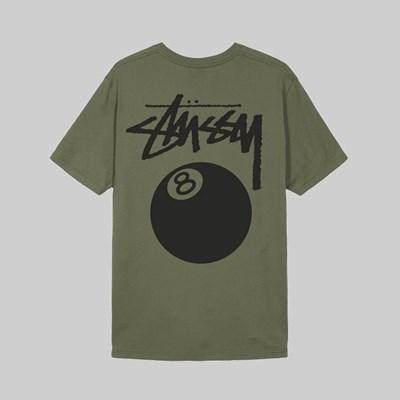 STUSSY 8 BALL PIG. DYED SS T-SHIRT OLIVE