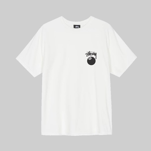 STUSSY 8 BALL PIG. DYED SS T-SHIRT NATURAL